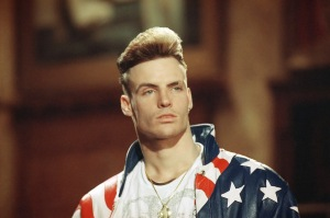 Rap singer Vanilla Ice in 1991. (AP Photo)